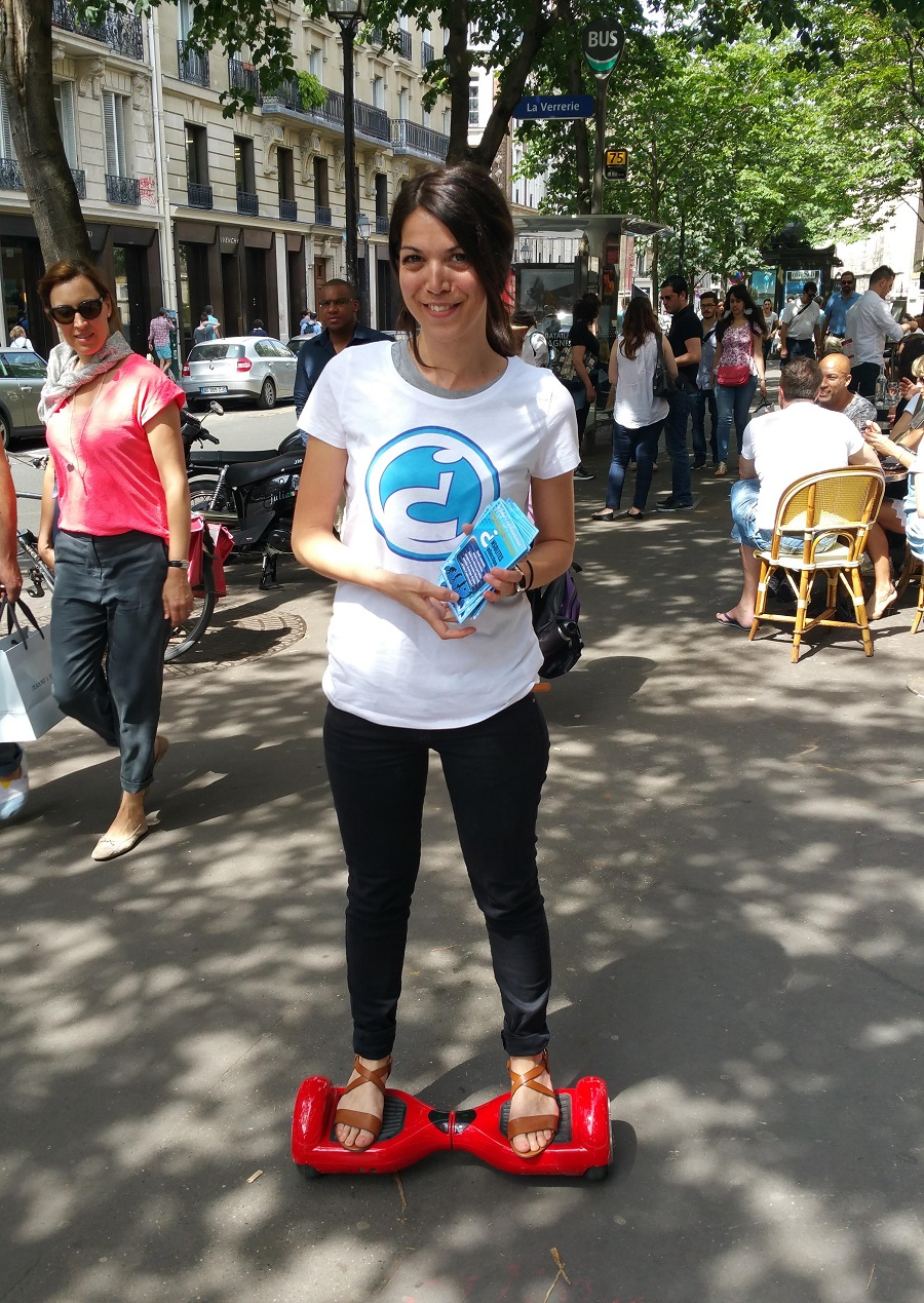 Street marketing hoverboard paris