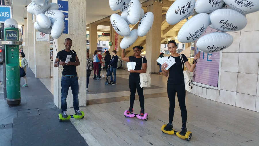 Street marketing en hoverboard